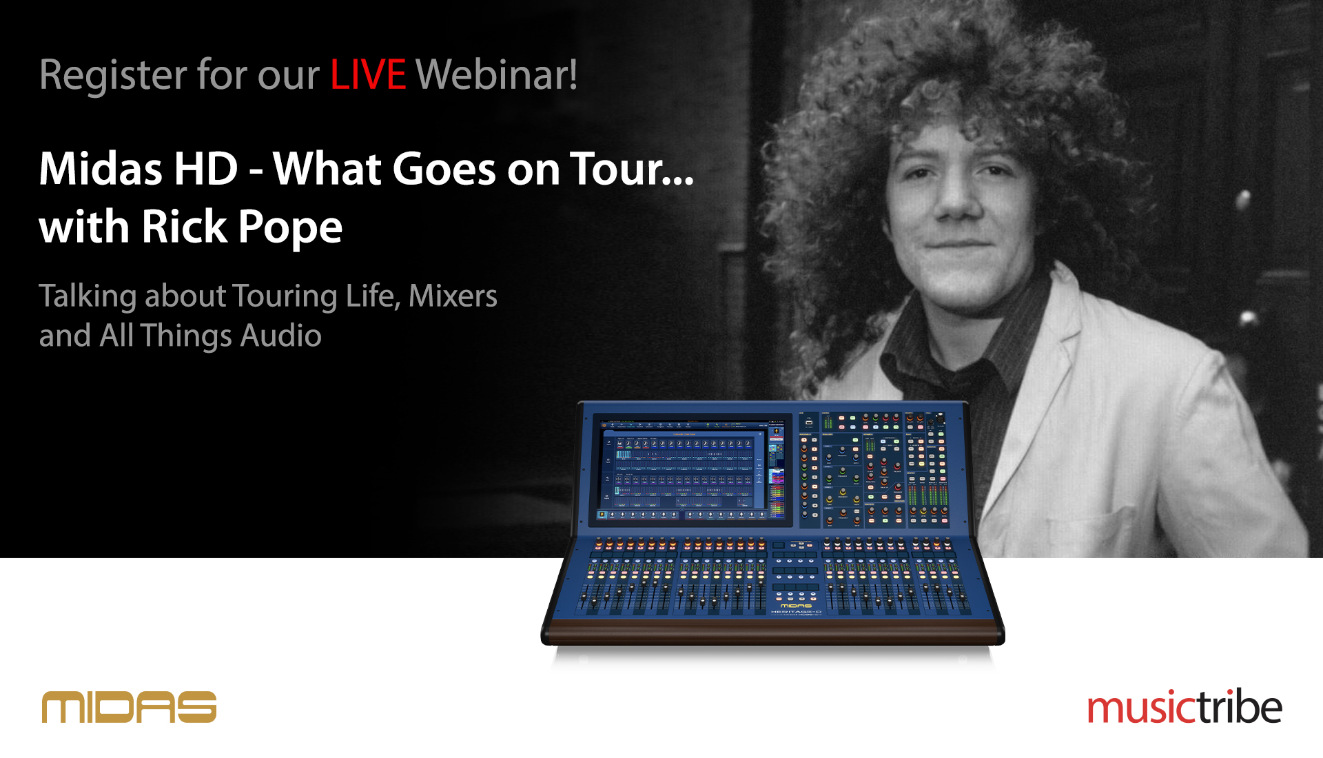 Midas LIVE Webinar: What Goes On Tour... with Rick Pope