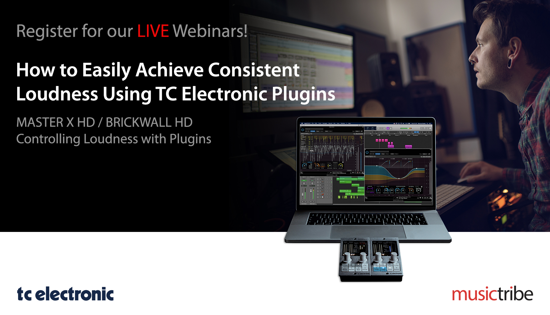 TC Electronic LIVE Webinar: How to Easily Achieve Consistent Loudness Using TC Electronic Plugins