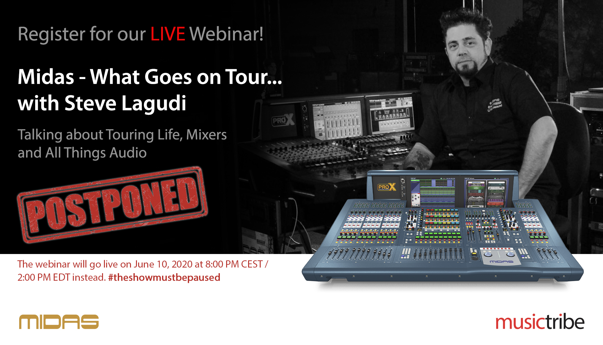 Midas LIVE Webinar: What Goes On Tour... with Steve Lagudi